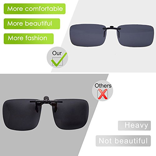 TERAISE Polarized Clip-on Sunglasses Over Prescription Glasses Anti-Glare UV404 for Men Women Driving Travelling Outdoor Sport … AzGUwQGZ