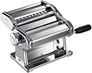 Marcato Atlas 150 Pasta Machine, Made in Italy, Includes Cutter, Hand Crank, and Instructions, 150 mm, Stainle
