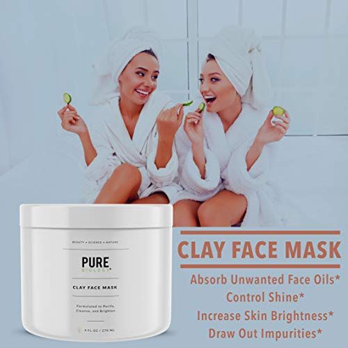 Premium Face Mask - Bentonite Clay, Retinol, Collagen Peptides, Kaolin, Vitamins B, C, E - Cleanse, Smooth & Minimize Deep Pores, Dark Spots, Blackheads & Acne Scars - Men & Women, All Skin Types