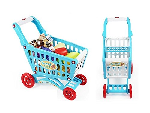 AMPERSAND SHOPS Musical Toy Shopping Cart with Goodies (Blue) by AMPERSAND SHOPS (Image #5)