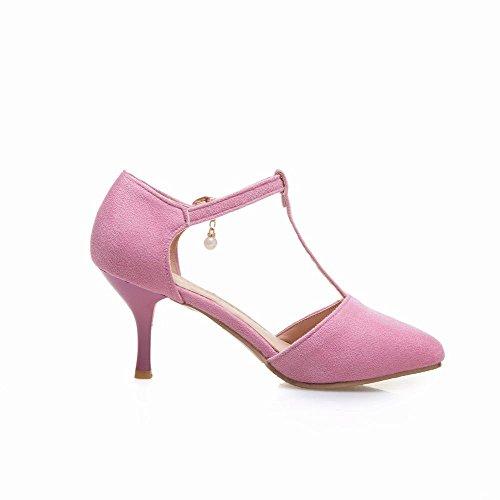 Rosa Da Cinturino Alto Alla Caviglia Shoes Scarpe Con Donna Tacco Mee Colore E 6f7qEwn