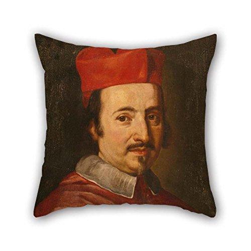 Oil Painting Jakob-Ferdinand Voet - Portrait De Cardinal Federico Ubaldo Baldeschi Colonna (1624-1691) Amortiguador Casos...