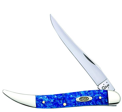 Case Medium Blue Sparkle Texas Toothpick Pocket Knife