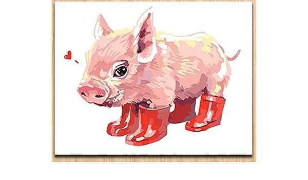 WACYDSD Pintura Digital por Números Animal De Dibujos Animados ...