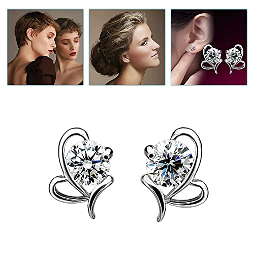 Diamond Stud Earrings for Women, Vintage Minimalist Inlaid Diamond Metal Flash Ladies Earring Jewelry Gift(#03)