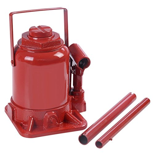 Goplus 20 TON Hydraulic Bottle Jack Low Profile Automotive Shop Axle Jack Hoist Lift (Red)