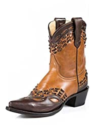 Stetson Western Boots Womens Ankle Snip Toe Tan 12-021-5105-1040 TA