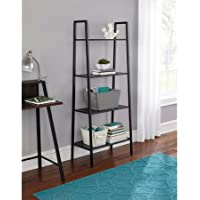 Sturdy 4-Tier Black Metal Bookcase/Organizer (65 lbs max per shelf)