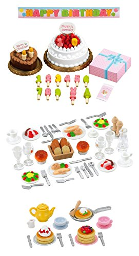 (Best Japan Shopping - 3 Different Sets - Food Theme - Birthday Cake, Dinner and Pancake Sets (Japan Import))