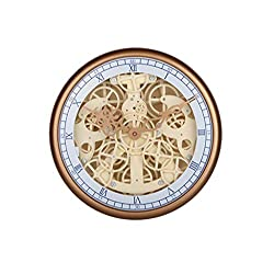 ZLZGZ Gear Wall Clock Mechanical Creative Texture Decoration for The Living Room Bedroom Study Room Two Colors Optional (Color : Metallic)