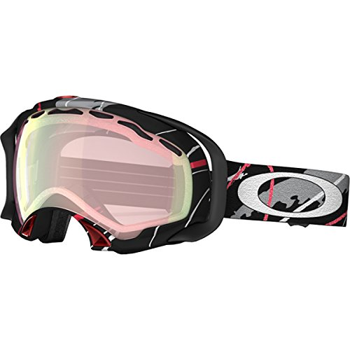 Oakley Splice Snow Ski Snowmobile Goggles Simon Dumont Hot Lines Black/Red / VR50 Pink Iridium by Oakley