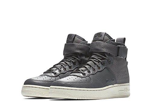 Nike SF Air Force 1 Mid, Dark Grey/Dark Grey/Light Bone (6.5 M US Big Kid)