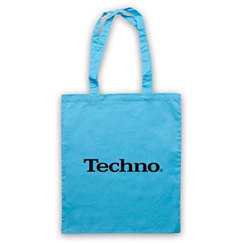 Sky Bag Tote Logo Blue Music Parody Techno Music Techno Yw0CBfq