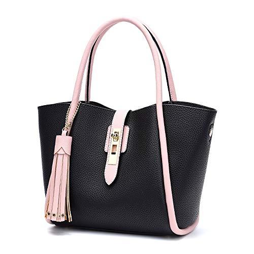 Pour 21cm Capacité couleur Noir À Simple Shopping Sac Multifonctions Gray Polyvalent Pièces 2 Femme Main Taille Grande Bandoulière 14 33 Et HExxFgzBn