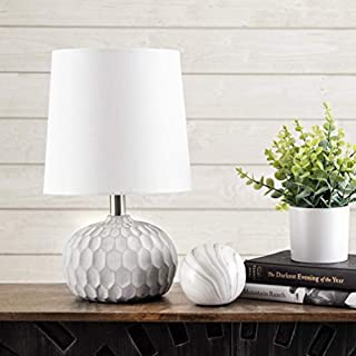 """nuLOOM Home MLT02AA Aspen Table Lamp, 15"""" Height, Silver"""