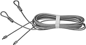 National Hardware V7618 Torsion Spring Lift Cables, 8-Feet 8-Inch x 1/8-Inch, Galvanized