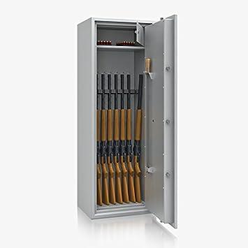 Armario para armas Arma Caja fuerte Clase 1 I, 1470 x 520 x 415 mm, 8 soportes para armas: Amazon.es: Bricolaje y herramientas