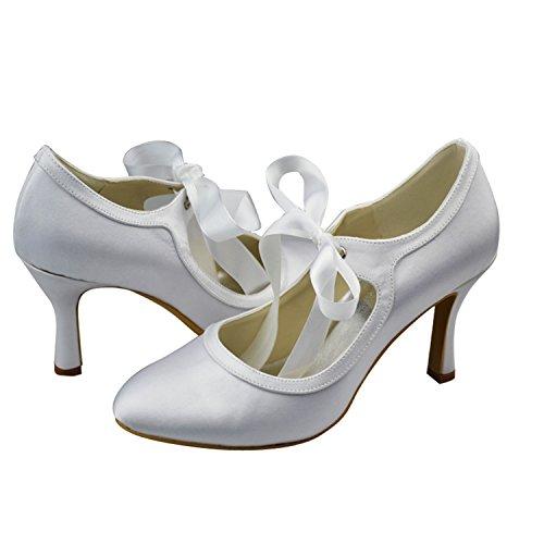 Beige Heel Mariage Ivory Tendance Satin Minitoo Chaussures 9cm Femme xw10w6