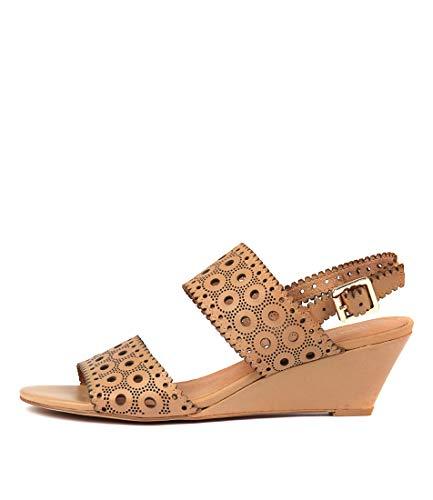 DJANGO & JULIETTE McKayla Womens Shoes Medium Heels Summer Wedges Latte Leather