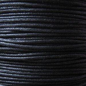 1 x Black Waxed Cotton 5 Metre x 1mm Thong Cord