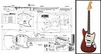 Plan der Fender Mustang E-Gitarre – Full-Scale Print: Amazon.de ...