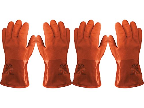 Atlas Showa - Small (24-Pair) - Cold Weather Double-Dipped PVC Freezer Work Gloves with Insulated Acrylic Liner & Rough Grip - Orange - 460 by Atlas (Image #5)