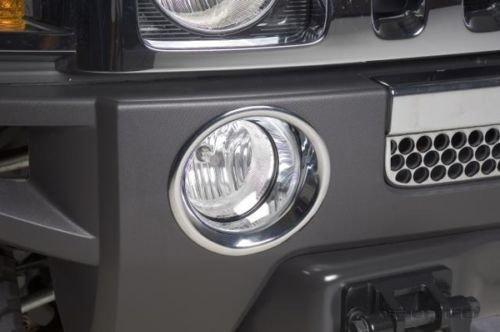 Chrom Nebelscheinwerfer Ringe für Hummer H3 !!NEU!!