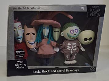 Amazon.com: Tim Burton's The Nightmare Before Christmas Lock Shock ...