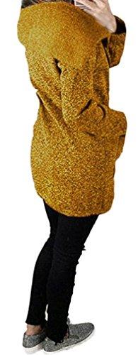 Sweatshirt Giallo Inverno Cerniera Giubbotto Felpa Giacca Lunga Cappotto Elegante Aspesi Alto Collo Giacche Irregolare Donna Cappotti Manica Casual Moda Parka Asimmetrica Outerwear Autunno Pullover Obliquo EEq6ZS7