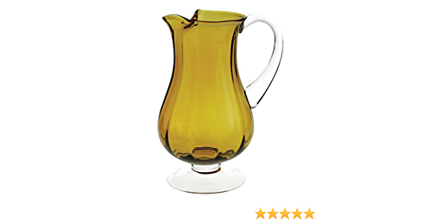 Amazon Com Badash Amber Pitcher H11 54 Oz Impressions Crystal Bowl Carafes Pitchers