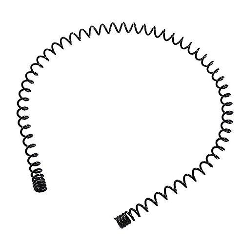 Ladies Black Flexible Metal Spring Spring Headband Hairband Hair Band U4H7 B3