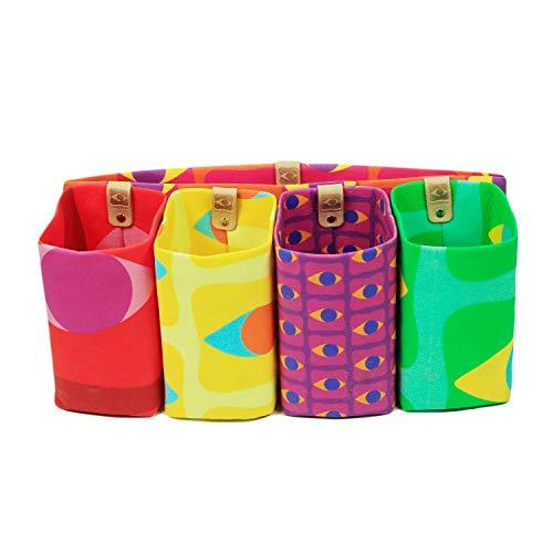 Stashio Magnetic Detachable Bag in Bag Organizer Insert for Purse/Tote/Handbag, Bright Flagship Prints, 5