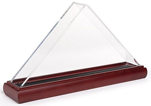 Displays2go Mahogany Flag Case for 3 x 5 Foot Flags with Acrylic Cover FC35ACMA