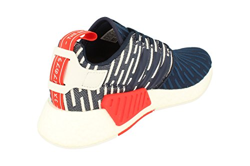 adidas Originals NMD_R2 PK Mens Running Trainers Sneakers (UK 7.5 US 8 EU 41 1/3, Navy White BB2952)