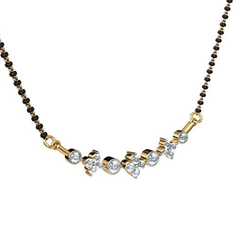 Or jaune 18K 0,22CT TW White-diamond (IJ | SI) Mangalsutra