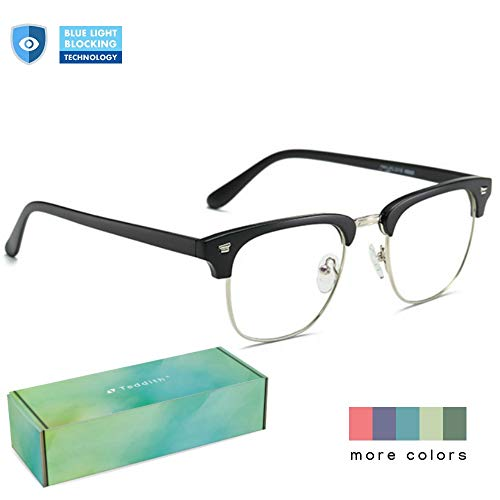 b2ff070c3e06 Teddith Blue Light Blocking Glasses Anti Blue Light Computer Reading Glasses  Reduce Eye Strain Headache Better