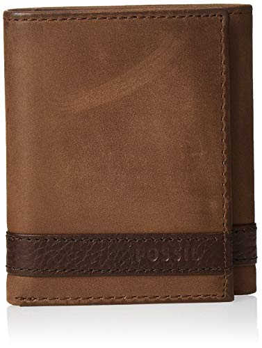 Fossil Men's Quinn Leather Trifold Wallet