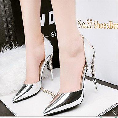 Stiletto tacones Fiesta cuero Club Mujer Gold tacón Y Del Noche Lvyuan zapatos ggx Vestido boda Patentado Oficina Trabajo wSA0qBt