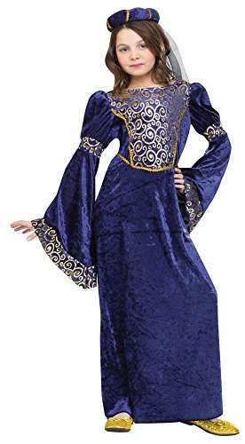 Fun World Renaissance Maiden Kids Costume Blue -