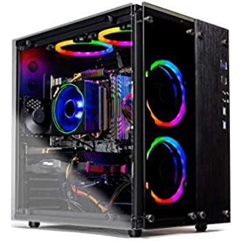 SkyTech Legacy II - Gaming Computer PC Desktop - Ryzen 7 2700 8-Core 3.2 GHz, NVIDIA GeForce RTX 2070 Super 8GB, 1TB SSD, 16GB DDR4, AC WiFi, Windows 10 Home 64-bit