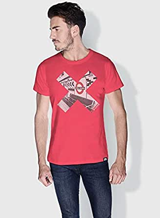 Creo London Underground X City Love T-Shirts For Men - L, Pink