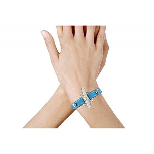 Les Poulettes Bijoux - Bracelet Cuir et Fermoir T Argent 925 - Cuir Marron