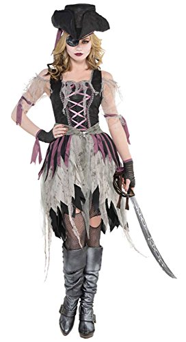 Amscan 848275 Adult Haunted Pirate Wench Costume - Medium (6-8), -