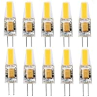 Best to Buy® G4 LED-lamp - pak van 10 G4 LED-lampen 3W 270 lumen [Vervangt 20W halogeen, AC/DC 12V, warm wit, 360…