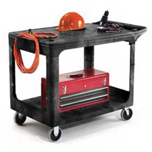 Rubbermaid 4525 Flat Shelf Plastic Service & Utility Cart 44 x 25, 44