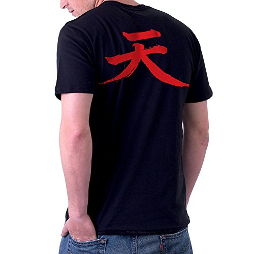 TheShirtDudes Akuma Street Fighter - Adult T-Shirt For Cosplay (Back - Cosplay Video Game Character