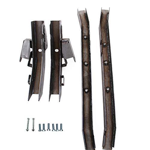 (NIXFACE Rear Trail Arm ad Skid Plate Center Frame Rust Repair for 97-02 Jeep Wrangler TJ)