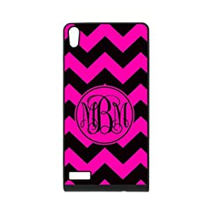 ALLCASE Monogram Commuter Black Pink on Pink Background Case for HTC Desire 820 Black Cover Case