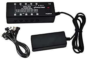 pyle pro ppdlp03 dc pedalboardpower supply for up to 10 guitar effects pedals at 9. Black Bedroom Furniture Sets. Home Design Ideas