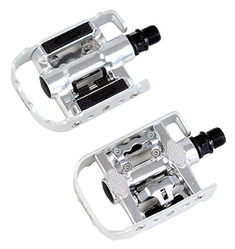(Wellgo Multi-Function Mountain Bike Pedals Shimano SPD Compatible Silver)